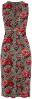 Oasis Rose Grecian Midi Dress