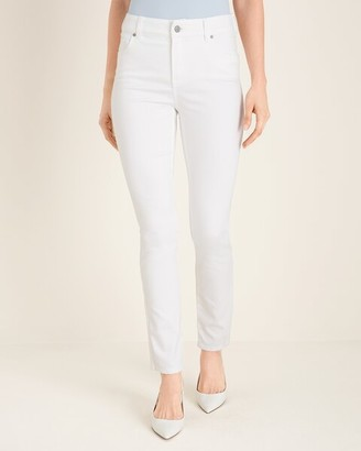 So Slimming No-Stain White Girlfriend Jeans