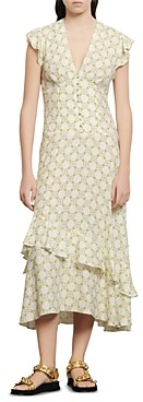 Sandro Mally Floral-Print Midi Dress