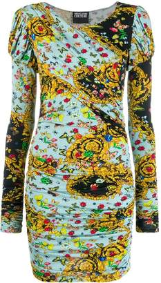 Versace printed long sleeve dress