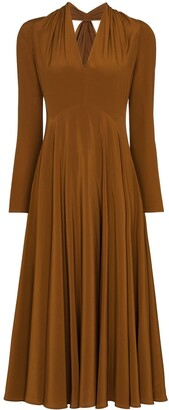 Victoria Beckham Cut-Out Midi Dress