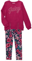 Little Girl's 2-Piece Cotton Top & Cotton-Blend Pants Set