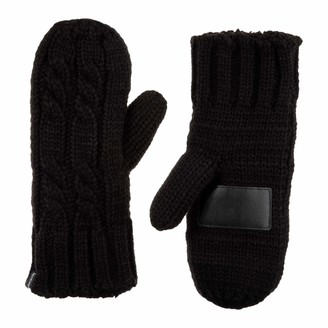 Isotoner Womens Chunky Cable Knit Cold Weather Mittens with Warm
