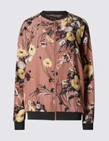 Marks and Spencer Floral Print Bomber Jacket