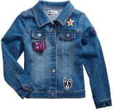Epic Threads Patch Denim Jacket, Little Girls (4-6X), Created for Macy's