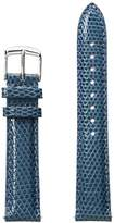 Michele MS18AA030407 18mm Straps Leather Lizard Blue Watch Strap