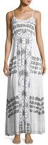 Letarte Scoop-Neck Printed Maxi Dress
