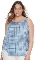 Plus Size SONOMA Goods for LifeTM Lace-Up Back Tank