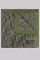 Moss Bros Khaki Knit Pocket Square