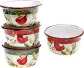 Certified International Winter Wonder Set of 4 Ice Cream Bowls
