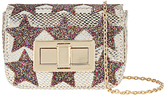 Accessorize Lola Applique Star Mini Turnlock Cross Body Bag