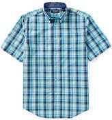 Roundtree & Yorke TravelSmart Short-Sleeve Large Plaid Sportshirt