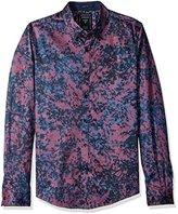 GUESS Men's Howell Floral Print Shirt
