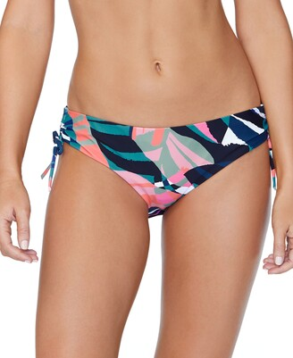 Raisins Juniors' Crystal Cove Printed Drawstring Bikini Bottoms Women's Swimsuit