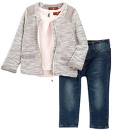 7 For All Mankind Jacket, Short Sleeve Tee, & Skinny Pant 3-Piece Set (Baby Girls)