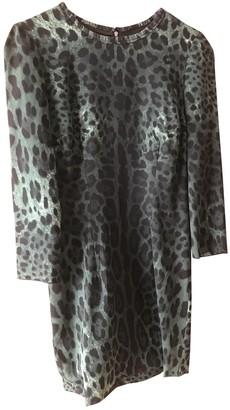 Dolce & Gabbana Green Silk Dresses