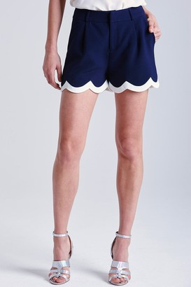 Paper Dolls Navy and Cream Scalloped Shorts