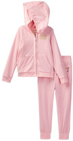 Juicy Couture Terry Hoodie & Pant Set (Toddler Girls)