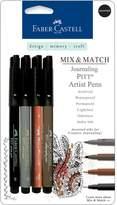 Faber-Castell Mix and Match Pitt Artist Pens - 4-pack Assorted Journaling