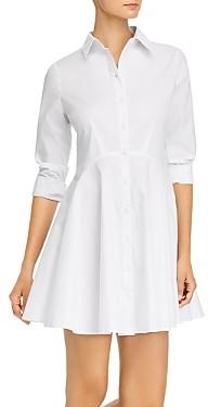 Aqua Long Sleeve Button Front Shirt Dress - 100% Exclusive