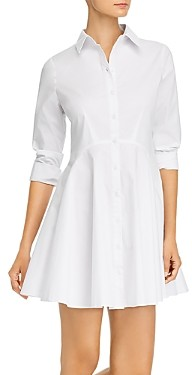 Aqua Long-Sleeve Button-Front Shirtdress - 100% Exclusive