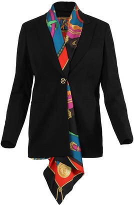 Versace Tailored Scarf Blazer Jacket
