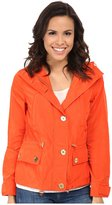 MICHAEL Michael Kors Womens Water Reistant Hooded Basic Jacket Orange M