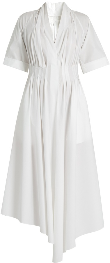ADAM by Adam Lippes V-neck gathered cotton dress