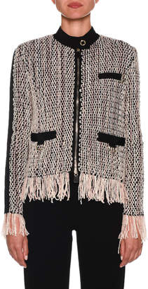 Giorgio Armani Zip-Front Woven Jacket