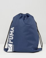 Puma Drawstring Backpack In Blue 7346802