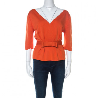 Christian Dior Orange Silk Tops