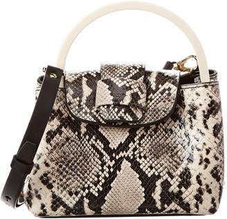 Nico Giani Myria Micro Top Handle Python-Embossed Leather Shoulder Bag
