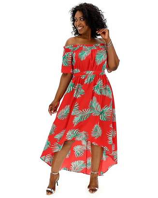 Bardot Lovedrobe Tropical Dip Back Dress
