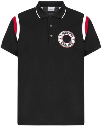 Burberry Logo Graphic Applique Polo Shirt