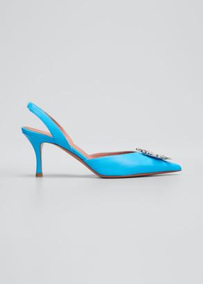 Amina Muaddi 70mm Begum Jewel Slingback Sandals