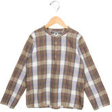 Bonpoint Boys' Plaid Long Sleeve Shirt
