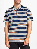 John Lewis Double Stripe Polo Shirt, Navy