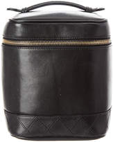 Chanel Black Caviar Leather Vertical Cosmetic Case
