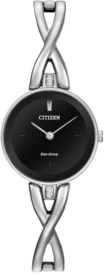 Citizen Women's Eco-Drive Stainless Steel Bangle Bracelet Watch 23mm EX1420-50E