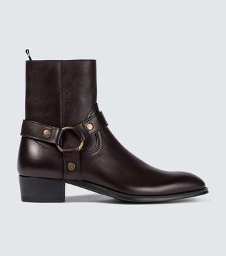 Saint Laurent Wyatt harness Chelsea boots