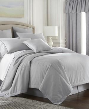 Colcha Linens Cambric Gray Comforter-King/California King Bedding