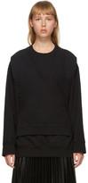 MM6 MAISON MARGIELA Black Logo Bib Sweatshirt