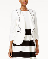 Nine West Draped Piped Blazer