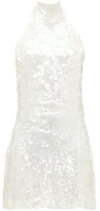 Galvan Gemma Sequinned Chiffon Dress - White