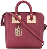 Sophie Hulme double handles structured tote - women - Cotton/Leather - One Size