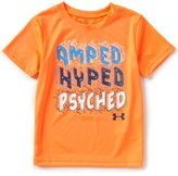 Under Armour Little Boys 4-7 Amped, Hyped, Psyched Short-Sleeve Tee