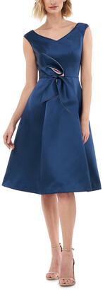 Kay Unger Sleeveless Solid Midi Dress