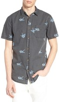 Globe Paper Cranes Short Sleeve Standard Fit Shirt