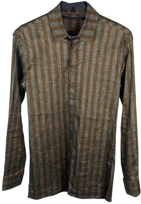 Haider Ackermann Brown Linen Shirts