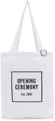 Opening Ceremony White Logo Tote
